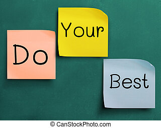 Do your best! - Wording, do your best on Various sticker...