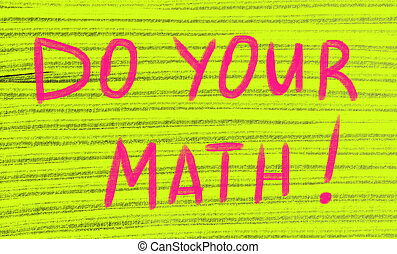 do your math concept