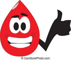doar, coisa, direita, sangue