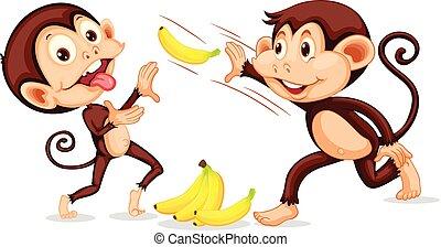 dobás, majom, banán