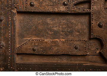 dobb, ved, gammal, järn, panel