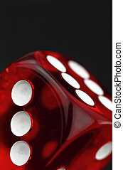 dobbelsteen, rood