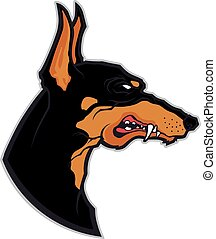 Doberman head mascot