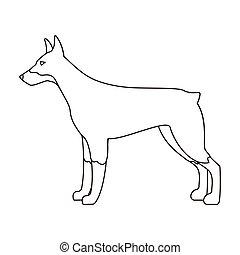 Doberman contorno standing contorno doberman for Piani casa com classico cane trotto stile