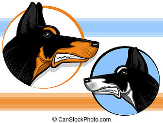 Doberman Pinscher - Doberman Guard Dog Mascot