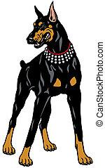 Figura doberman cane nero animale pinscher figura for Pinscher nero