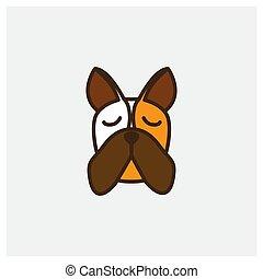 dobermann dog head face logo design