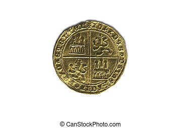 dobla, oro, la, castilla, juan, (1406?1454), de, ii, coin., ...