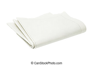 doblado, blanco, periódico