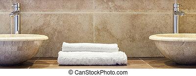 doblado, limpio, toallas