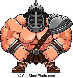 doblar, caricatura, gladiator