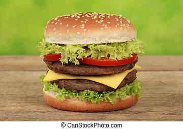doble, cheeseburger
