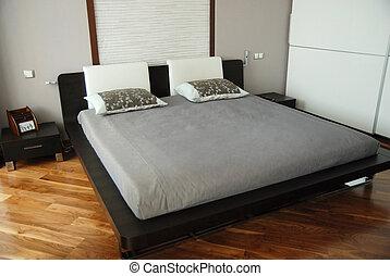 doble, magnífico, cama
