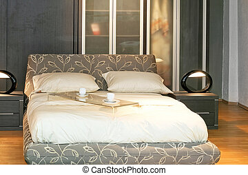 doble, moderno, cama
