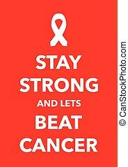 dobog, poszter, kijelent, erős, rák