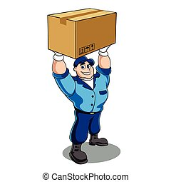 doboz, birtok, ember