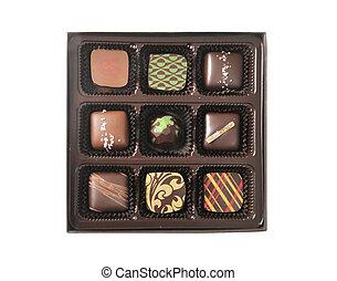 doboz, csokoládé