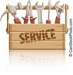 doboz, fából való, szerkesztés, eszközök, szolgáltatás
