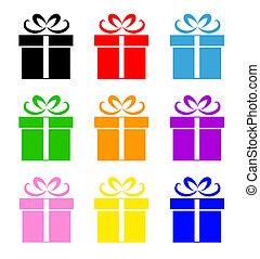 doboz, jelkép, állhatatos, színes, tehetség