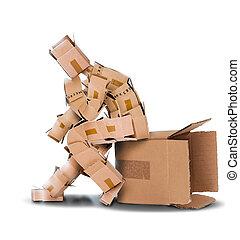 doboz, kívül, fogalom, gondol