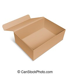 doboz, kartonpapír, kinyitott