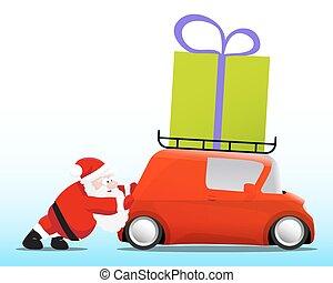 doboz, mini, tehetség, autó, rámenős, szent, piros