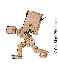 doboz, nagy, betű, vonás