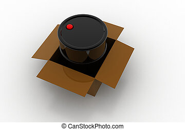 doboz, puskacső, olaj