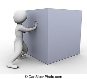 doboz, rámenős, 3, ember