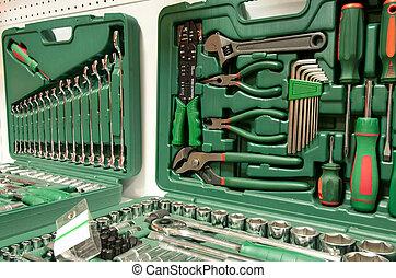 doboz, rendbehozás, eszközök, műszerek