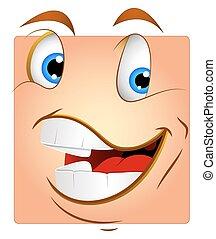 doboz, smiley, nevető, vektor