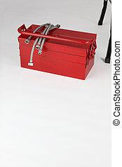 doboz, szerszám, piros