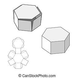 doboz, termék, elvág, eps10, tehetség, isolated., meghal, vagy, élelmiszer, products., template., csomagolás, más, vektor, háttér, hajlandó, fehér, -e, design.