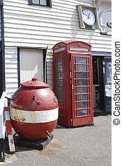 doboz, ww2, akna, telefon, brit, következő, tenger, bemutatás, piros