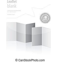 dobrado, em branco, menu, para, seu, desenho