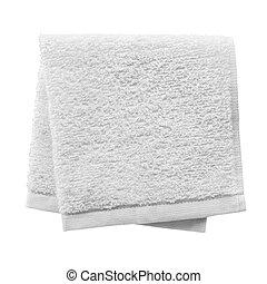 dobrado, toalha branca