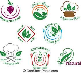 dobrany, jadło, wegetarianin, restauracja, symbolika, znaki, albo