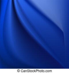 dobras azuis, algum, fundo, seda, macio