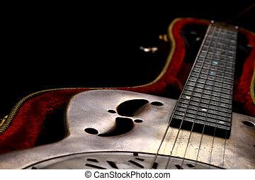 Dobro Guitar in case