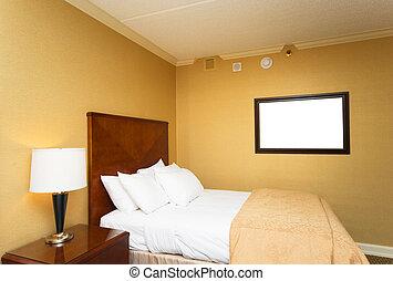 dobro, quarto hotel, cama