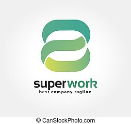 dobry, litera, znakowanie, abstrakcyjny, logotype, s,...