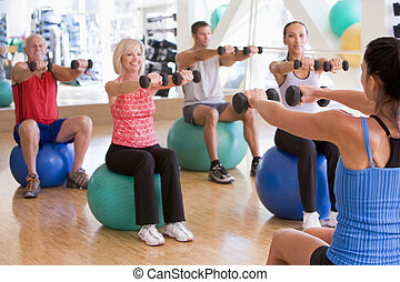 dobytí, instruktor, tělocvična vyučování, cvičit