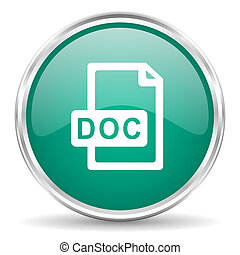 doc file blue glossy circle web icon