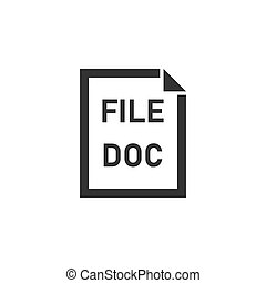 DOC File icon flat