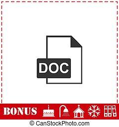 DOC file icon flat