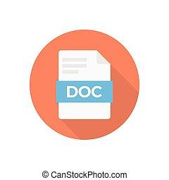 doc  flat color icon