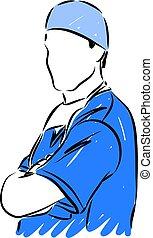 doc medical vector illustration