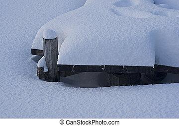 doca, neve coberta