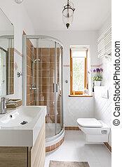 doccia, gabinetto, bagno, funzionale