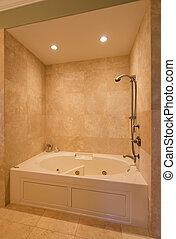 doccia, in, nuovo, sede lusso
